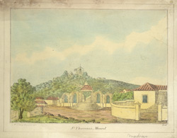 'St Thomas's Mount', Madras, W.H.  Lithograph at the Madras Artillery Depot by William Hunsley, c.1830.